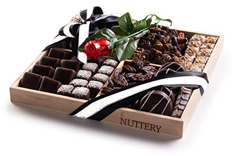 The Nuttery Mother's Gift Basket Chocolate and Nuts- Premium Dark Chocolate Mother's Gift Set