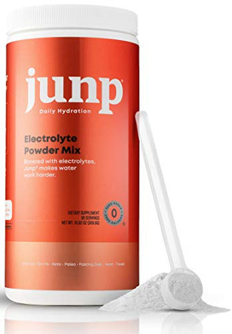 JUNP Hydration Electrolyte Powder, Electrolytes Drink Mix Supplement, Zero Calories Sugar and Carbs, Kosher, Peach Flavor, 90 Servings