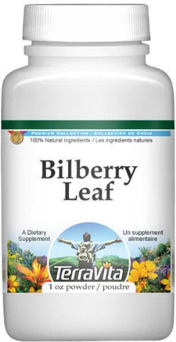 Bilberry Leaf Powder (1 oz, ZIN: 510963) - 2 Pack
