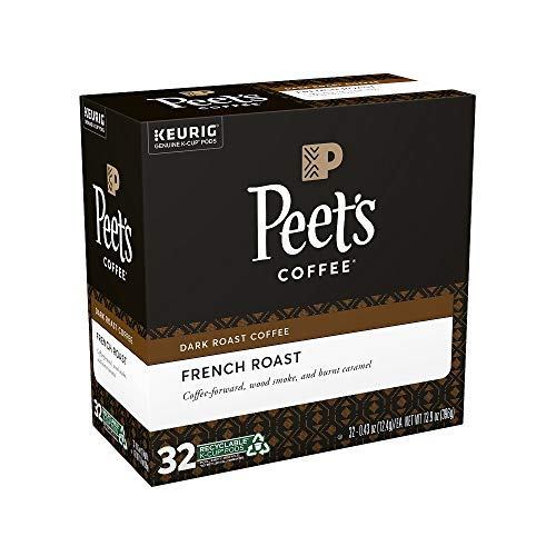 Peet's Coffee French Roast, Dark Roast, K Cup, 32 Ct