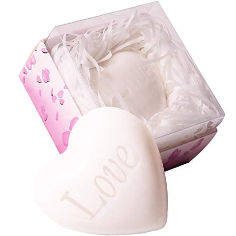 24 Pack Wedding Favors Bridal Shower Favors Handmade Scented White Heart Shaped Soap Favors for Guests