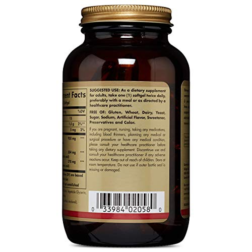 Solgar Triple Strength Omega 3 950 Mg, 100 Softgels   Supports Cardiovascular, Joint & Skin Health
