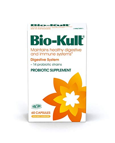 Bio-Kult Advanced Probiotics -14 Strains, Probiotic Supplement, Probiotics for Adults, Lactobacillus Acidophilus, No Need for Refrigeration, Non-GMO, Gluten Free Capsules-60 Count (Pack of 1)