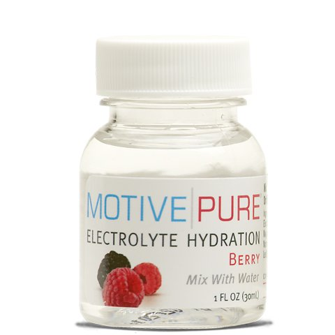 Motive Pure Electrolyte Hydration, Berry, 1 oz Mini Bottle, 12-pack