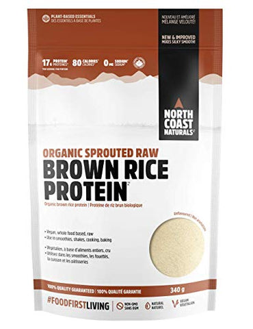 North Coast Naturals I Organic Sprouted Raw Brown Rice Protein 340 g
