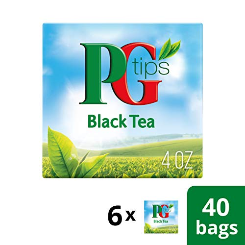Pg Tips Premium Black Tea For A Classic Caffeinated Beverage,Pyramid Black Tea Bags,40 Count (Pack O