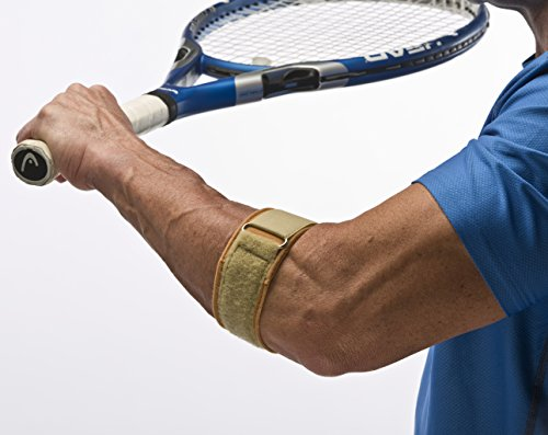 "Cho-Pat Tennis Elbow Support Strap - Comfortable, Adjustable, Targeted Forearm Support (Large, 12""-13"")"