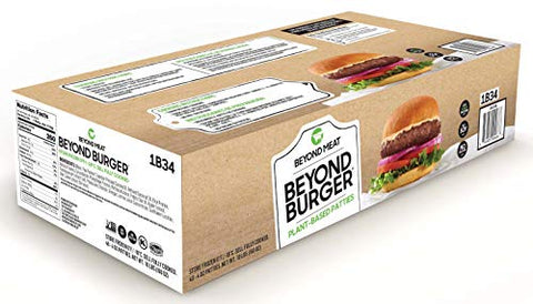 Beyond Meat Burgers- Plant-based Meat Alternative, Heat & Eat- Frozen, 40 x 4 Oz. Beyond Burgers, 10 Lb. Package
