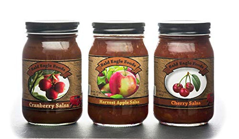 Cherry, Cranberry, and Apple Salsa Trio