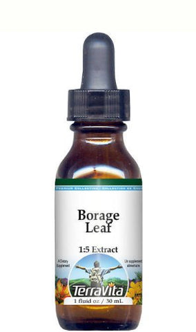 Borage Leaf Glycerite Liquid Extract (1:5) - No Flavor (1 oz, ZIN: 512791)