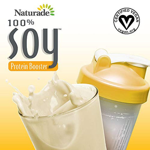 Naturade Soy Protein Booster, 100% Soy Protein with Phytonutrient & Enzyme Blends, 14.8 oz