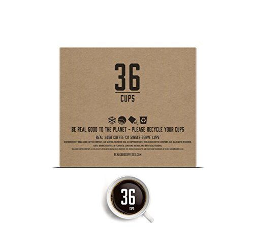 Real Good Coffee Co Recyclable Coffee Pods, Variety Pack, Compatible With Single Serve Coffee Makers