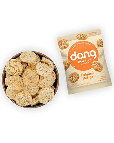 Dang Thai Rice Chips | Original | 24 Pack | Vegan, Gluten Free, Non Gmo Rice Crisps, Healthy Snacks Made with Whole Foods | 0.7 Oz Single Serve Bags
