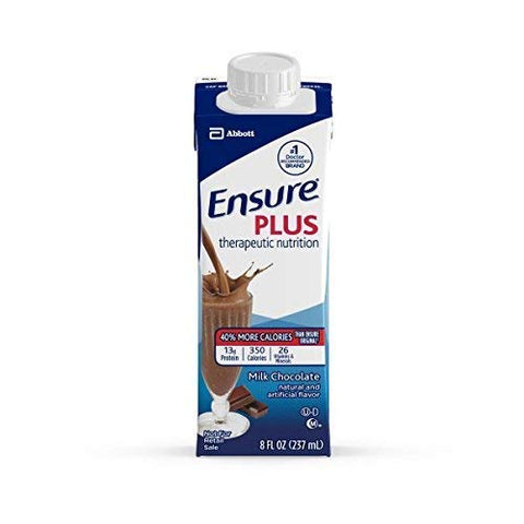 Ensure Plus Nutritional Supplement (Chocolate, 8oz Cartons) 24 Each / Case