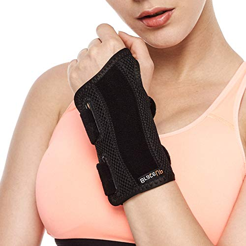 Brace Upâ® Wrist Support Brace With Splints For Carpal Tunnel Arthritis   Left Wrist (S/M)