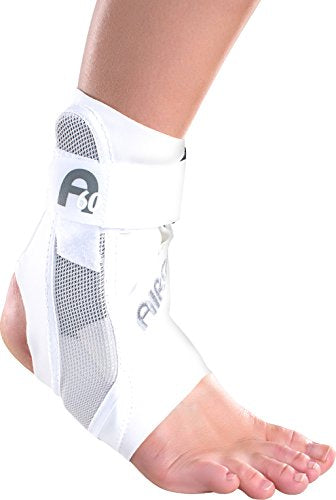 Aircast A60 Ankle Support Brace, Right Foot, White, Small (Shoe Size: Men's 4-7 / Women's 5-8.5)