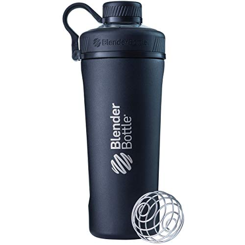 Blender Bottle Radian Insulated Stainless Steel Shaker Bottle, 26  Ounce, Matte Black