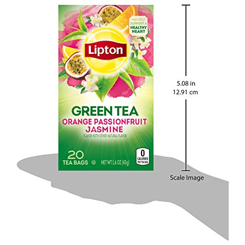Lipton Green Tea Bags Flavored With Other Natural Flavors Orange Passionfruit Jasmine Can Help Suppo