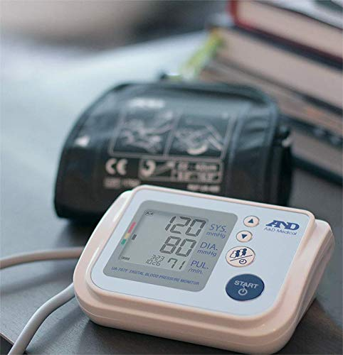 A&D Medical Upper Arm Blood Pressure Monitor for Up to 4 Users, Includes AC Adapter (UA-767FAC)