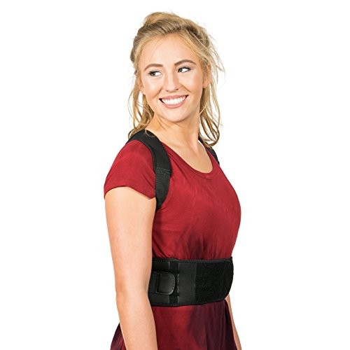 Back Brace Posture Corrector XL | Best Fully Adjustable Support Brace | Improves Posture and Provides Lumbar Support | For Lower and Upper Back Pain | Men and Women (Extra Large)