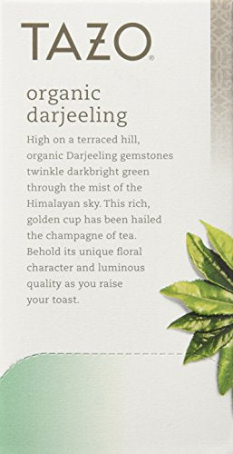 Tazo Organic Darjeeling Black Tea, 20-Count Tea Bags (Pack of 6)