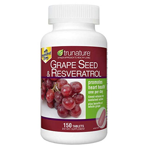TruNature Grape Seed & Resveratrol - 150 Tablets