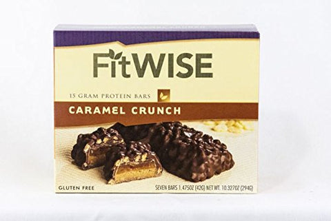 Ideal Protein Compatible FitWise High Protein Caramel Crunch Bars