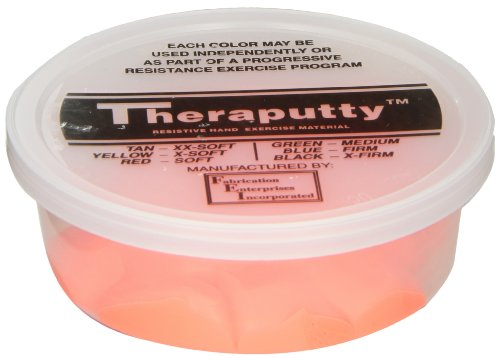 CanDo TheraPutty Standard Exercise Putty, Red: Soft, 4 oz