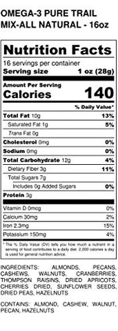 Omega-3 Trail Mix 1 lb