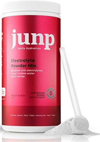 JUNP Hydration Electrolyte Powder, Electrolytes Drink Mix Supplement, Zero Calories Sugar and Carbs, Kosher, Wild Berry Flavor, 90 Servings