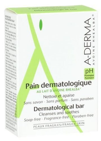 A-DERMA Dermatological Bar Cleanses and Soothes 100g New Fresh Product