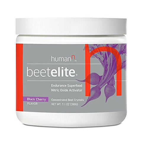 HumanN BeetElite Superfood Concentrated Beet Powder Nitric Oxide Boosting Athletic Endurance Supplement (Black Cherry Flavor, 7.1-Ounce)