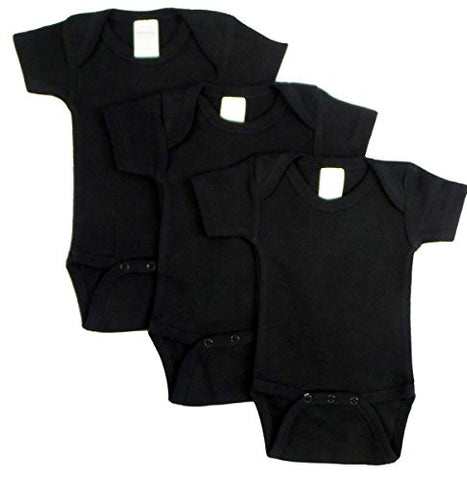 Bambini 0010BL3-S Short Sleeve - Black44; Small - Pack of 3