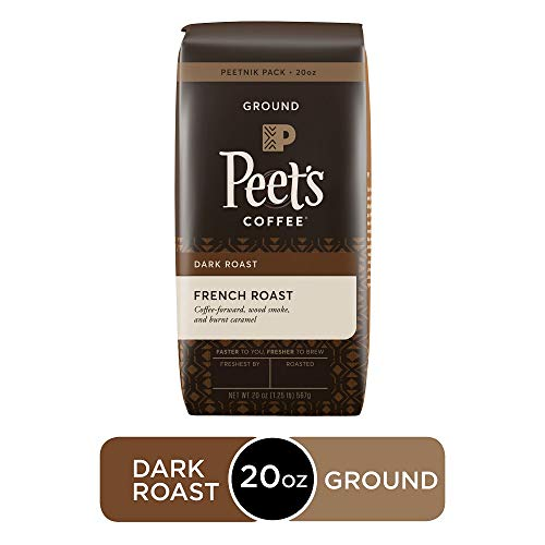 Peet's Coffee French Roast, Dark Roast Ground Coffee, 20 Ounce Peetnik Pack
