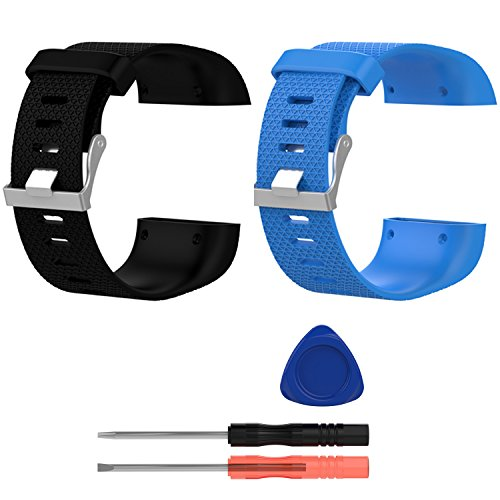 E Ecsem Replacement Bands For Fitbit Surge, Large, Silicone Wristbands/Straps For Fitbit Surge Super