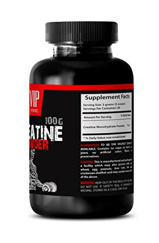 Creatine pre Workout - CREATINE MONOHYDRATE Powder 100g - Muscle gain for Women (3 Bottles)