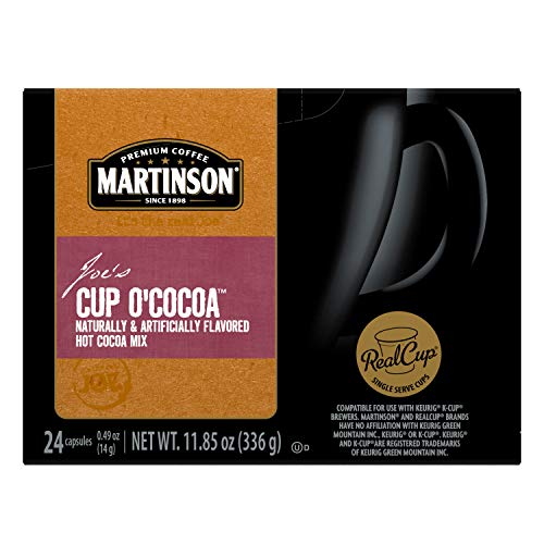 Martinson Single Serve Coffee Capsules, Hot Cocoa, Compatible With Keurig K Cup Brewers, 24 Count (8