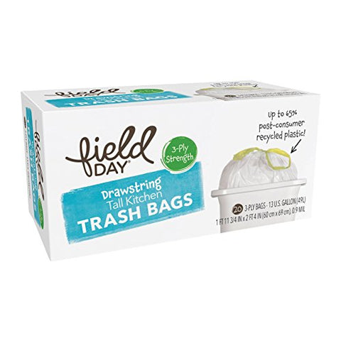 Natural Sea Trash Bags,Tall,Drawstrn 20 Count (Pack Of 12)