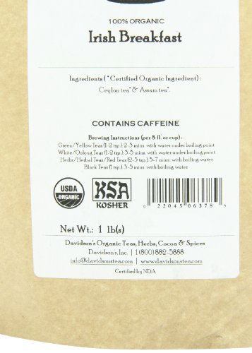 Davidson's Tea Bulk, Irish Breakfast, 16 Ounce
