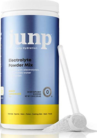JUNP Hydration Electrolyte Powder, Electrolytes Drink Mix Supplement, Zero Calories Sugar and Carbs, Kosher, Berry Lemonade Flavor, 90 Servings