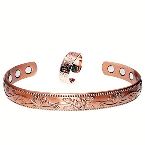 Magnetic Copper Bracelets&Ring for Arthritis