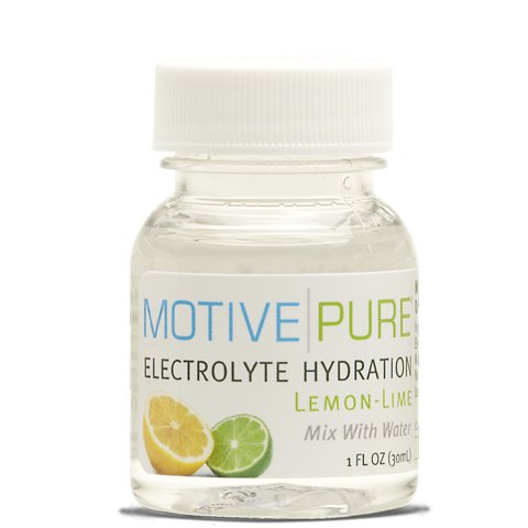 Motive Pure Electrolyte Hydration, Lemon-Lime, 1 oz Mini Bottle, 12-pack
