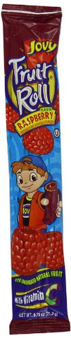 Jovy Fruit Roll, Raspberry, 0.75 Ounce (Pack of 48)