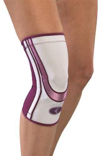 Mueller Lifecare for Her, Contour Knee, Plum, Medium, 1-Count Box
