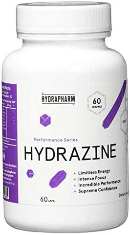 Hydrapharm Hydrazine 60 Capsules | Reviewers Compare It to Craze V1 | #1 Preworkout | Laser Sharp Focus | Fast Acting Formula Keep You Going for Hours | Pure Unmitigated Power