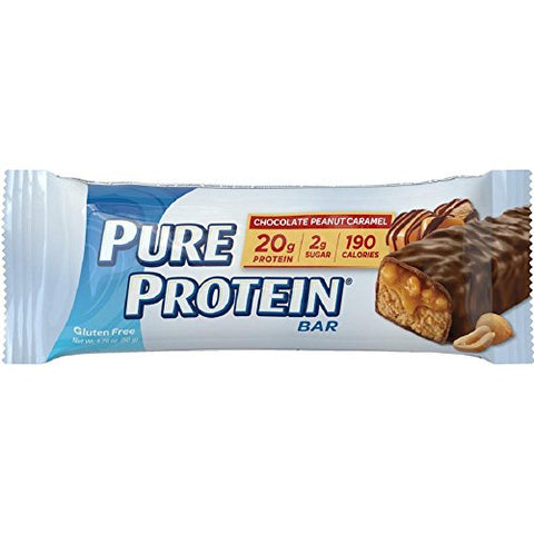 Pure Protein Chocolate Peanut Caramel Bar, 50 Gram (Pack of 6)