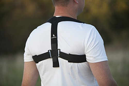 StrictlyStability Upper Back Posture Corrector Brace and Clavicle Support for Fractures, Sprains, and Shoulders (Small)