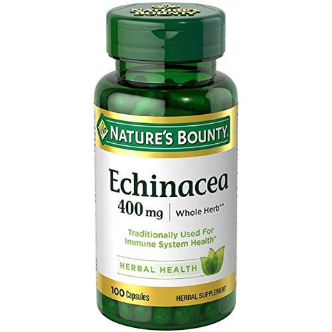 Nature's Bounty Echinacea 400 mg Capsules 100 ea (Pack of 3)