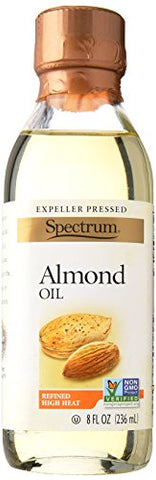 Spectrum Naturals Refined Almond Oil, 8 Ounce