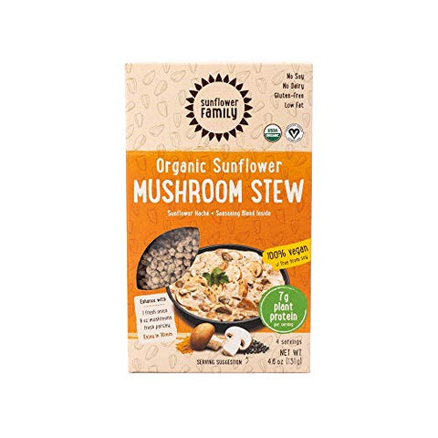 SunflowerFamily Organic Sunflower Mushroom Stew - Sunflower Hach Meal Kit - Certified USDA Organic, Certified Vegan, Kosher, Gluten-Free